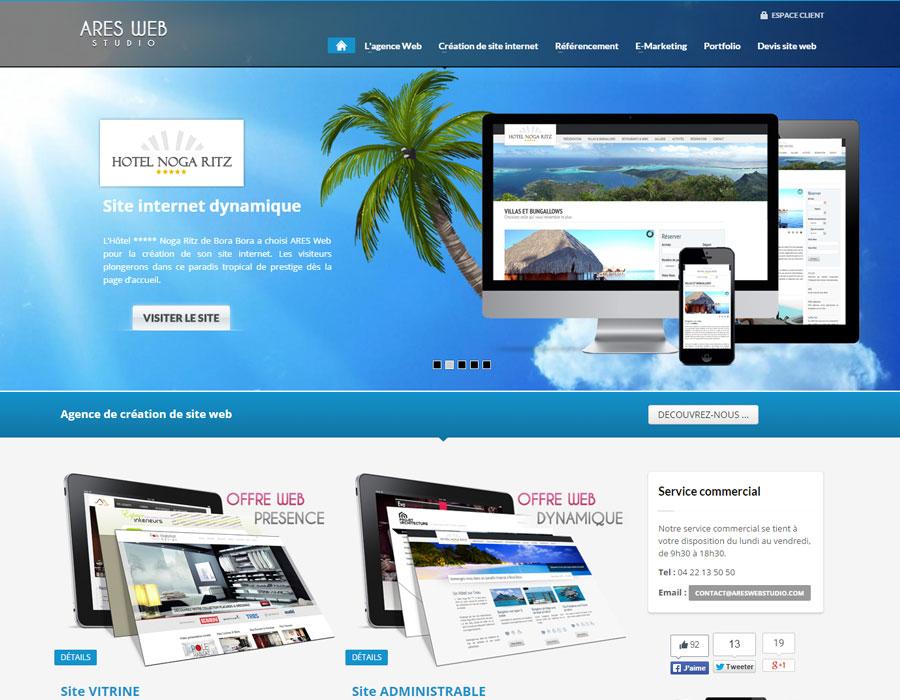 Site vitrine agence Ares Web