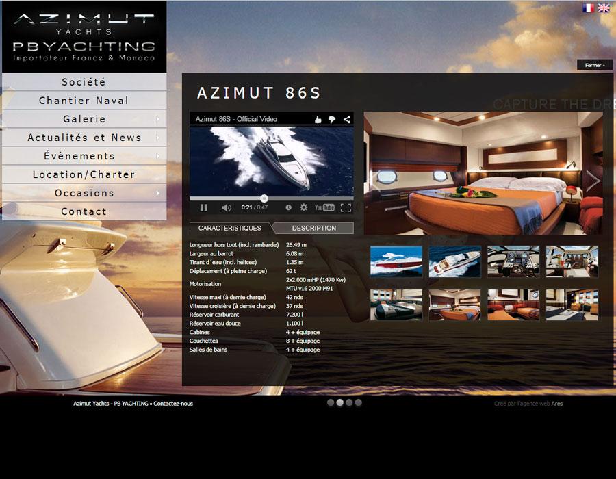 Azimut Yachts site vitrine de l'importateur exclusif France