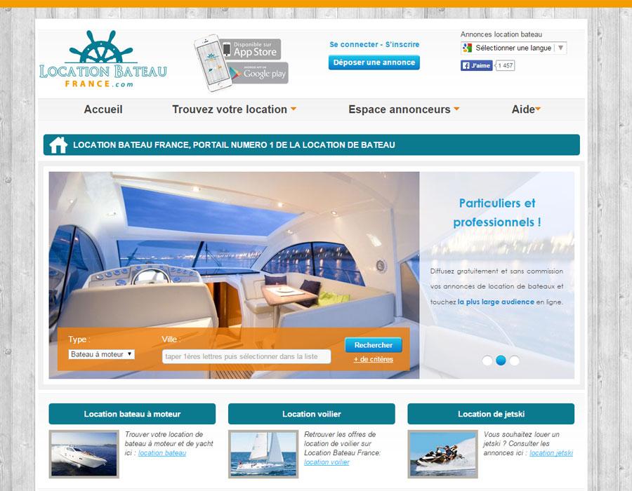 Location Bateau France, portail d'annonces