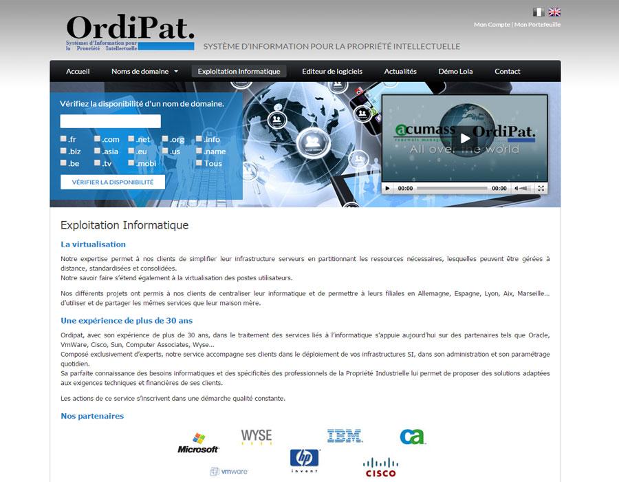 Ordipat.fr - Système d'information pour la propriété intellectuelle