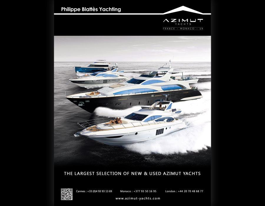 Azimut Yachts, page de publicité pour le magazine Motor Boat Yacht