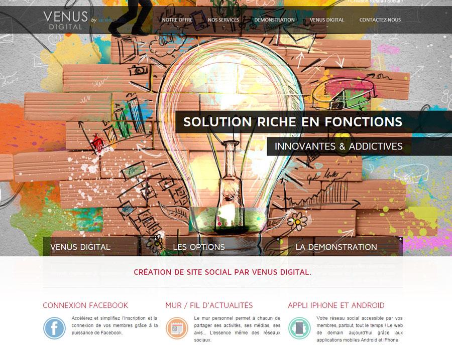 Venus Digital Social - service de création de réseau social tout en un