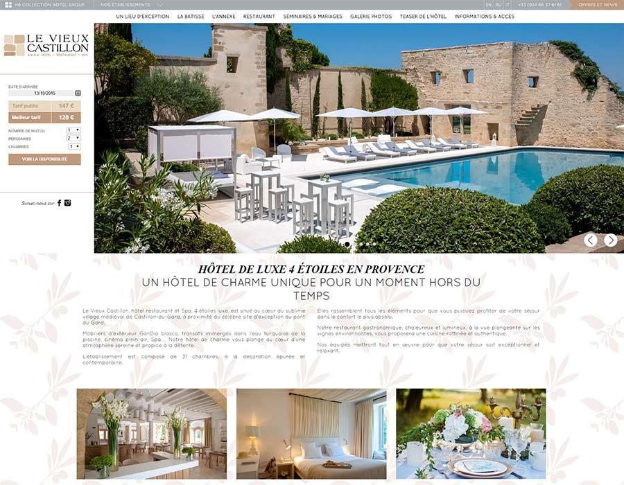 Site Internet Hotel 4 Etoiles Vieux Castillon